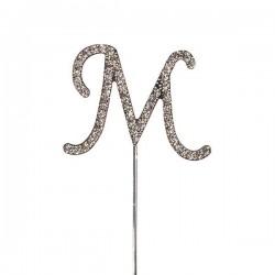 Lettre diamantée 'M' - 45mm