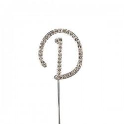 Lettre diamantée 'D' - 45mm