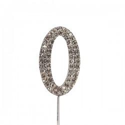 Chiffre diamanté '0' - 45mm