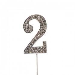 Chiffre diamanté '2' - 45mm