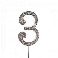 Chiffre diamanté '3' - 45mm