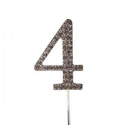 Chiffre diamanté '4' - 45mm