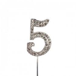 Chiffre diamanté '5' - 45mm