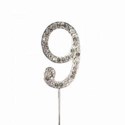 Chiffre diamanté '9' - 45mm