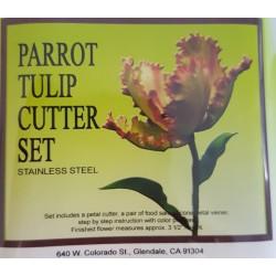 Petal crafts - Kit Tulip perroquet - moule en silicone et emporte-pièce
