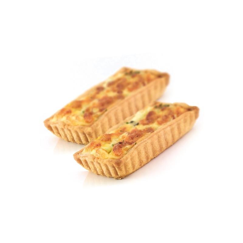 Moules à tartelettes rectangles cannelés antiadhésifs - 2pc