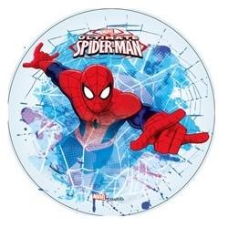 """Disque de décoration en sucre """"Spiderman 3"""" - 21cm"""