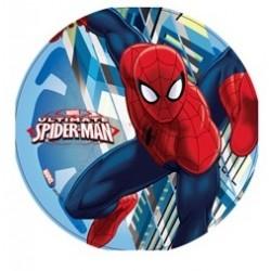 """Disque de décoration en sucre """"Spiderman 4"""" - 21cm"""