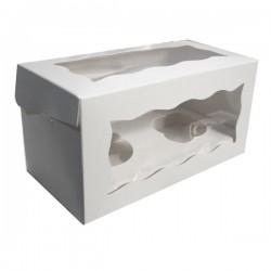 Boîte à cupcakes 2 cavités avec insert