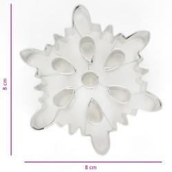 """Emporte-pièces """"flocon de neige 3"""" - 8cm"""