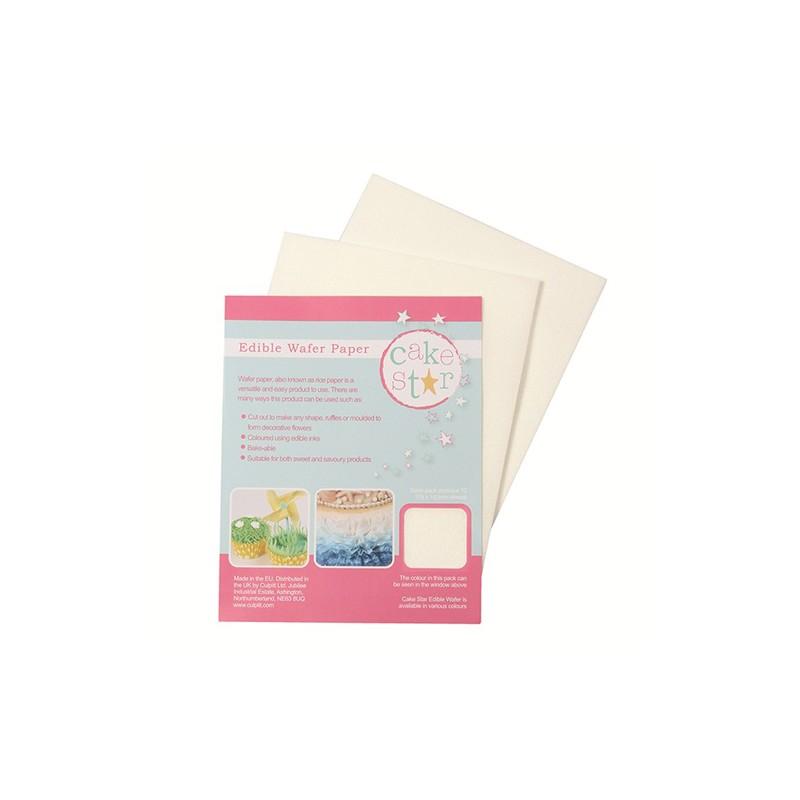 feuille d'azyme comestible format environ A5 (18x14cm) - Pk/12