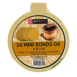 "Minis ronds ""OR"" - 8cm - 20pcs"