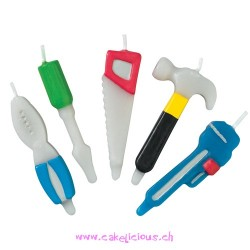 "Bougies ""Outils"" Set/5"