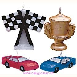 "Bougie ""Race Cars"" Set/4"