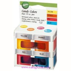 Colorants pour Chocolat (à base d'huile) Set/4