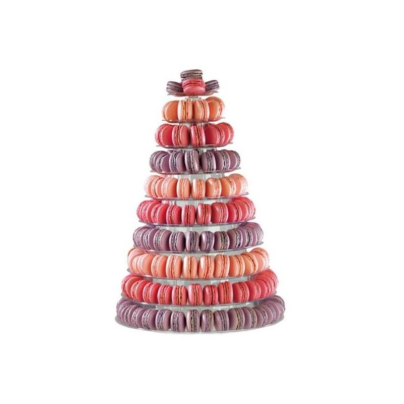 """Présentoire """"Pyramide"""" à macarons - 10 étages"""