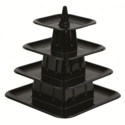 """Présentoire """"Pyramide"""" à macarons - 4 étages"""