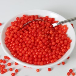 "Perles en sucre ""Shiny Red"" Rouge brillant - 80g"