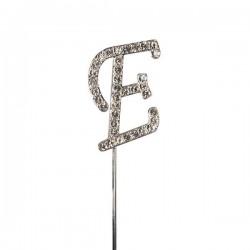 Lettre diamantée 'E' - 45mm