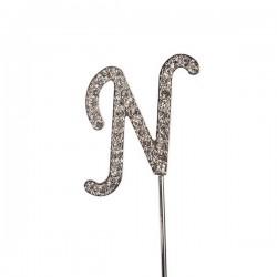 Lettre diamantée 'N' - 45mm