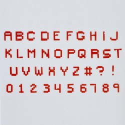 Alphabet & Numéro - Tappits Art Deco - MineCraft
