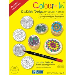 coloring sheets butterfly flower 12pcs chf6 00