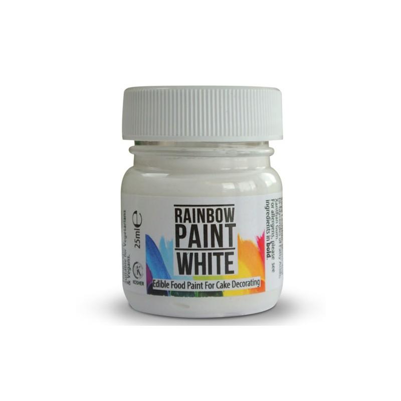 "Paint - peinture alimentaire ""White"" blanc - 25 ml"