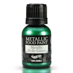 """Peinture métallique """"Holly Green"""" vert houx - 25ml"""