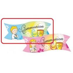 """Banderoles """"Communion"""" garçon azyme - 3pcs"""