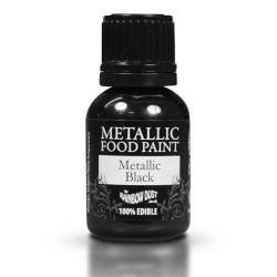 """Peinture alimentaire métalique """"Black"""" Noire - 25ml"""