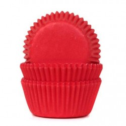 "Caissettes à mini cupcakes ""Red"" Rouge - pk/60"