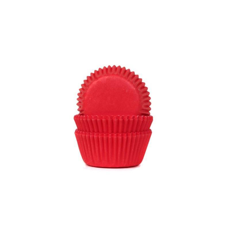 """Caissettes à mini cupcakes """"Red"""" Rouge - pk/60"""
