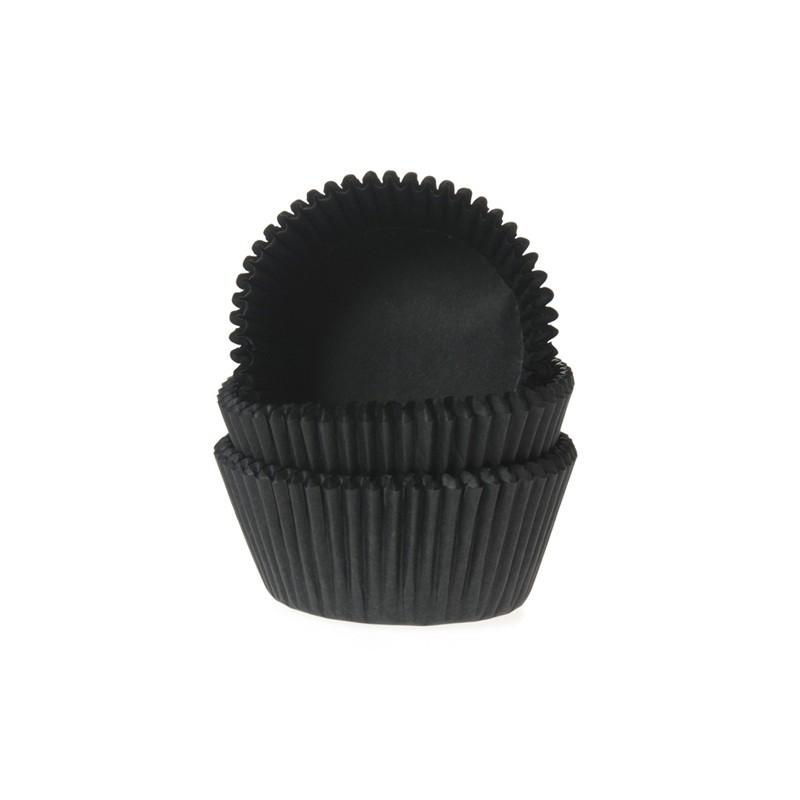 """Caissettes à mini cupcakes """"Black"""" noire - pk/60"""