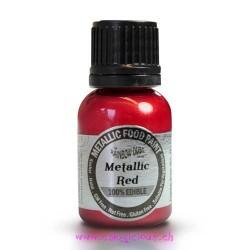 """Peinture Métallisée """"Red"""" 25 ml"""