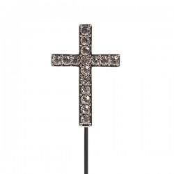 Croix diamantée sur tige - 45mm