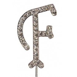 Lettre diamantée 'F' - 45mm