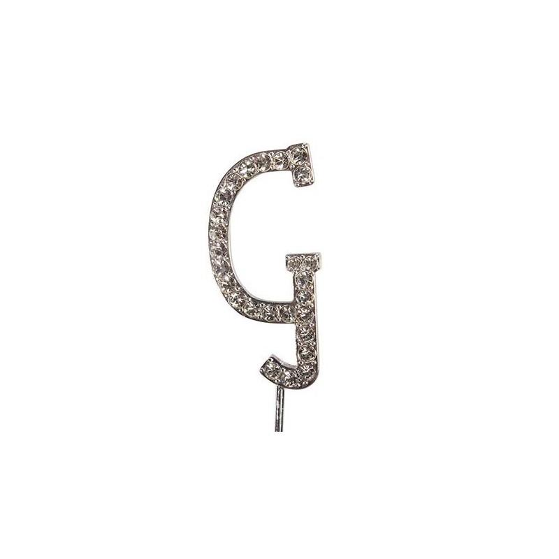 Lettre diamantée 'G' - 45mm