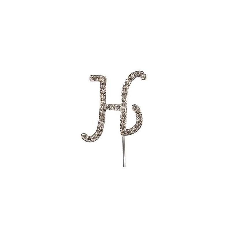 Lettre diamantée 'H' - 45mm