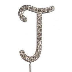 Lettre diamantée 'J' - 45mm