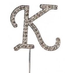 Lettre diamantée 'K' - 45mm
