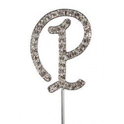 Lettre diamantée 'P' - 45mm