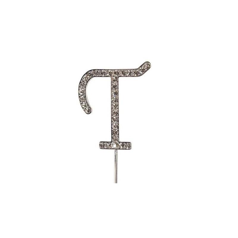 Lettre diamantée 'T' - 45mm