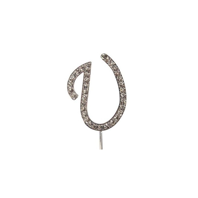 Lettre diamantée 'U' - 45mm