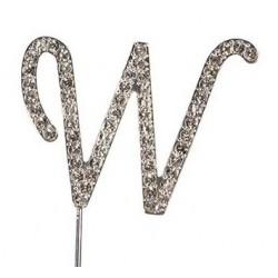 Lettre diamantée 'W' - 45mm
