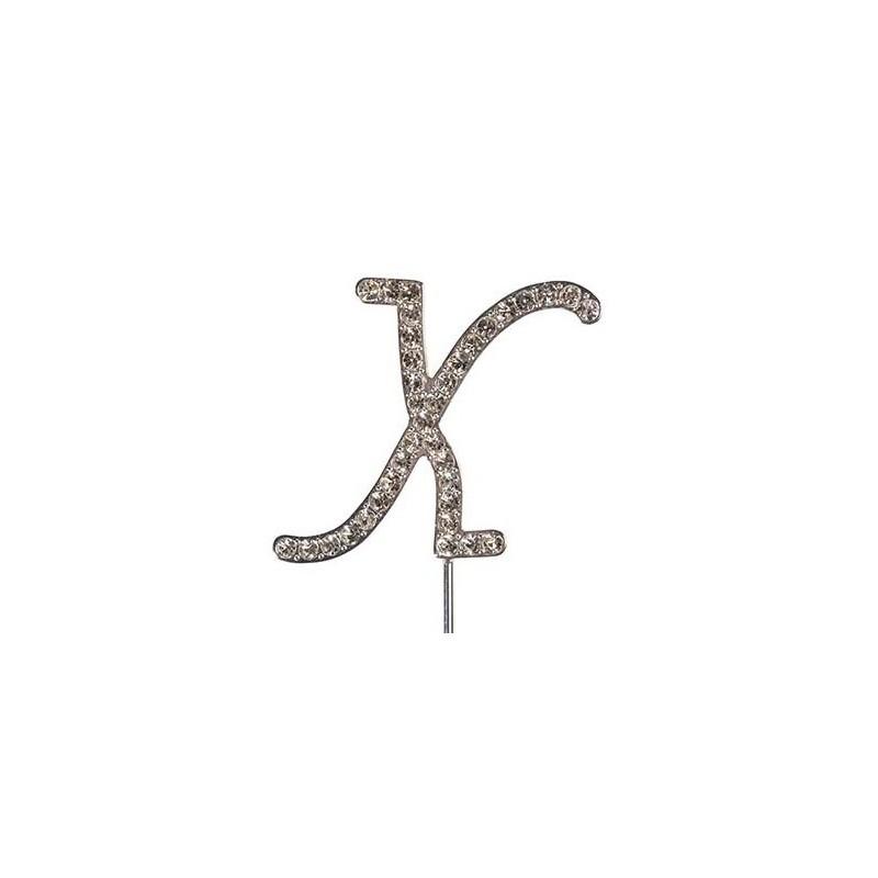 Lettre diamantée 'X' - 45mm