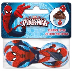 "Cupcake Toppers ""Spiderman"" - 24pcs"