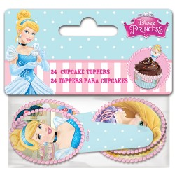 "Cupcake Toppers ""Princesses"" - 24pcs"