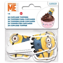 "Cupcake Toppers ""Minions"" - 24pcs"