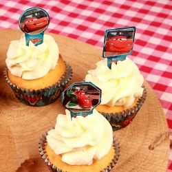 "Cupcake Toppers ""Cars"" - 24pcs"
