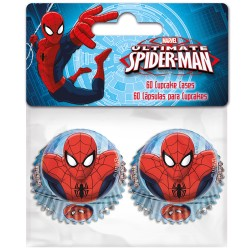 "Mini caissettes en papier ""Spiderman"" - pcs/60"